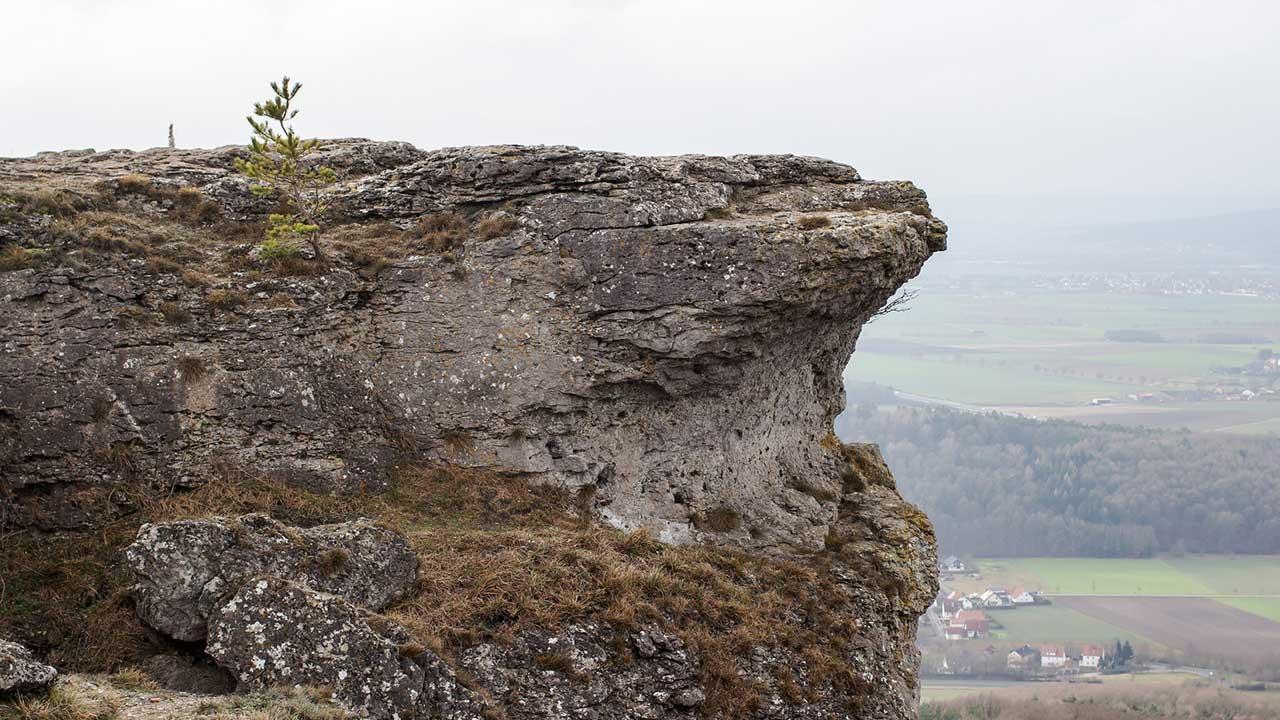 Klettern in der fränkischen Schweiz - Staffelberg
