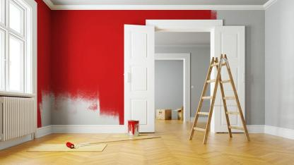 Ein frischer Anstrich bringt Schwung in Ihre 4 Wände - rote Wände