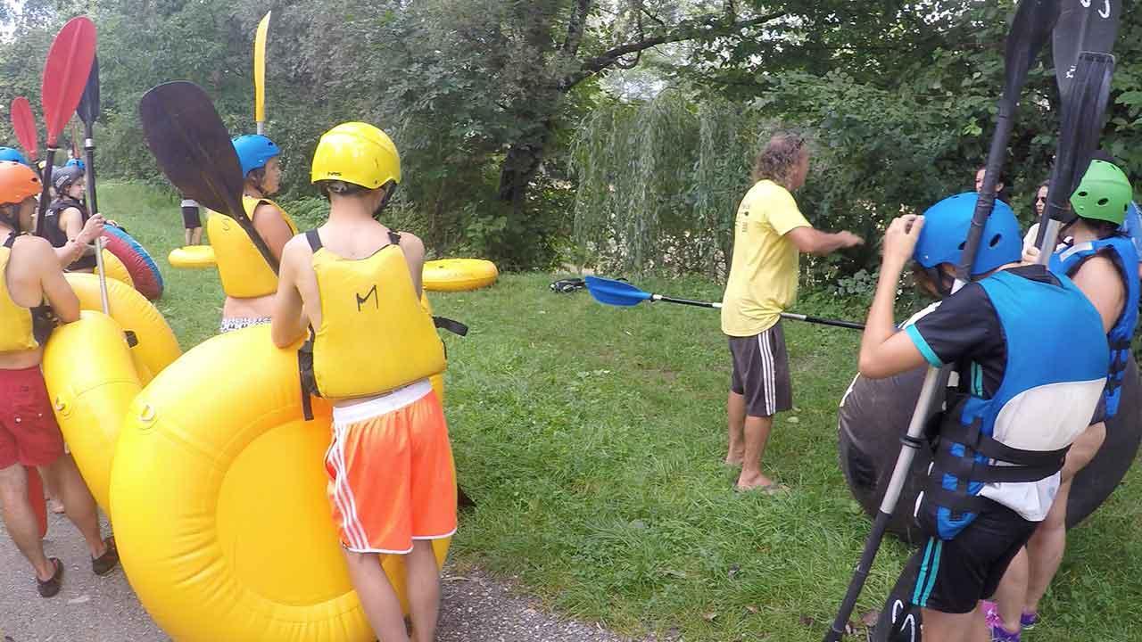 Tubing - die Trendsportart am Wasser für die ganze Familie - Instruktionen