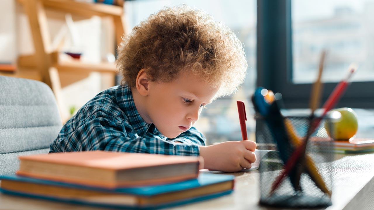 Produktivität im Home Office / Home Schooling - Kinder lernen