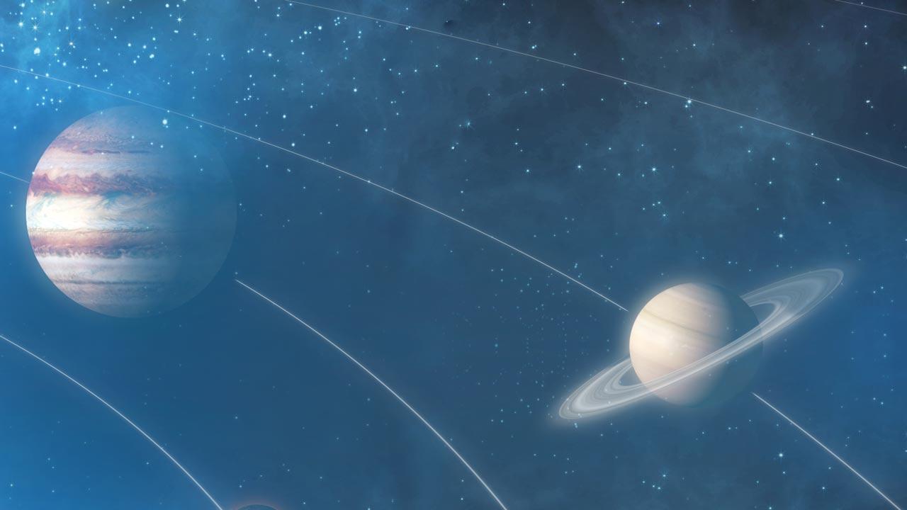 Jupiter und Saturn - Das Planetenpaar am Sternenhimmel