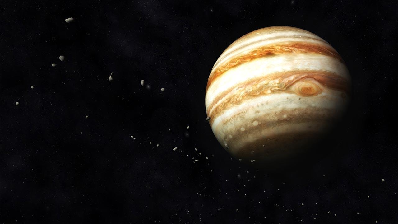 Jupiter und Saturn - Das Planetenpaar am Sternenhimmel - Jupiter