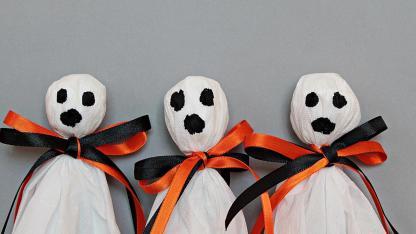 Bastelideen mit Kindern für Halloween