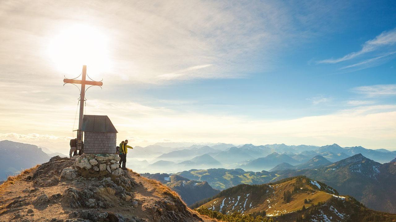 Wandern im Chiemgau - Ausblick im Herbst