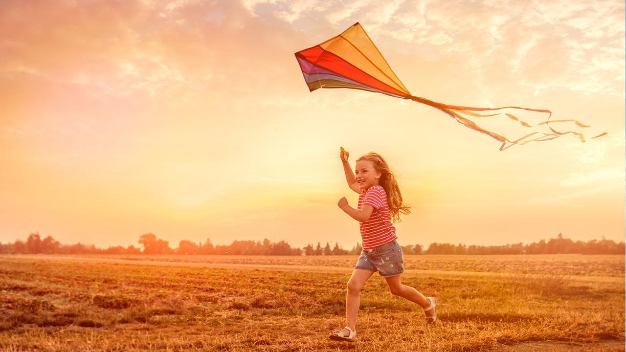Drachensteigen mit Kindern - Welcher Drache fliegt am besten - Einleiner