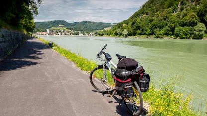 Fahrradtour an der Donau - Fahrrad an der Donau
