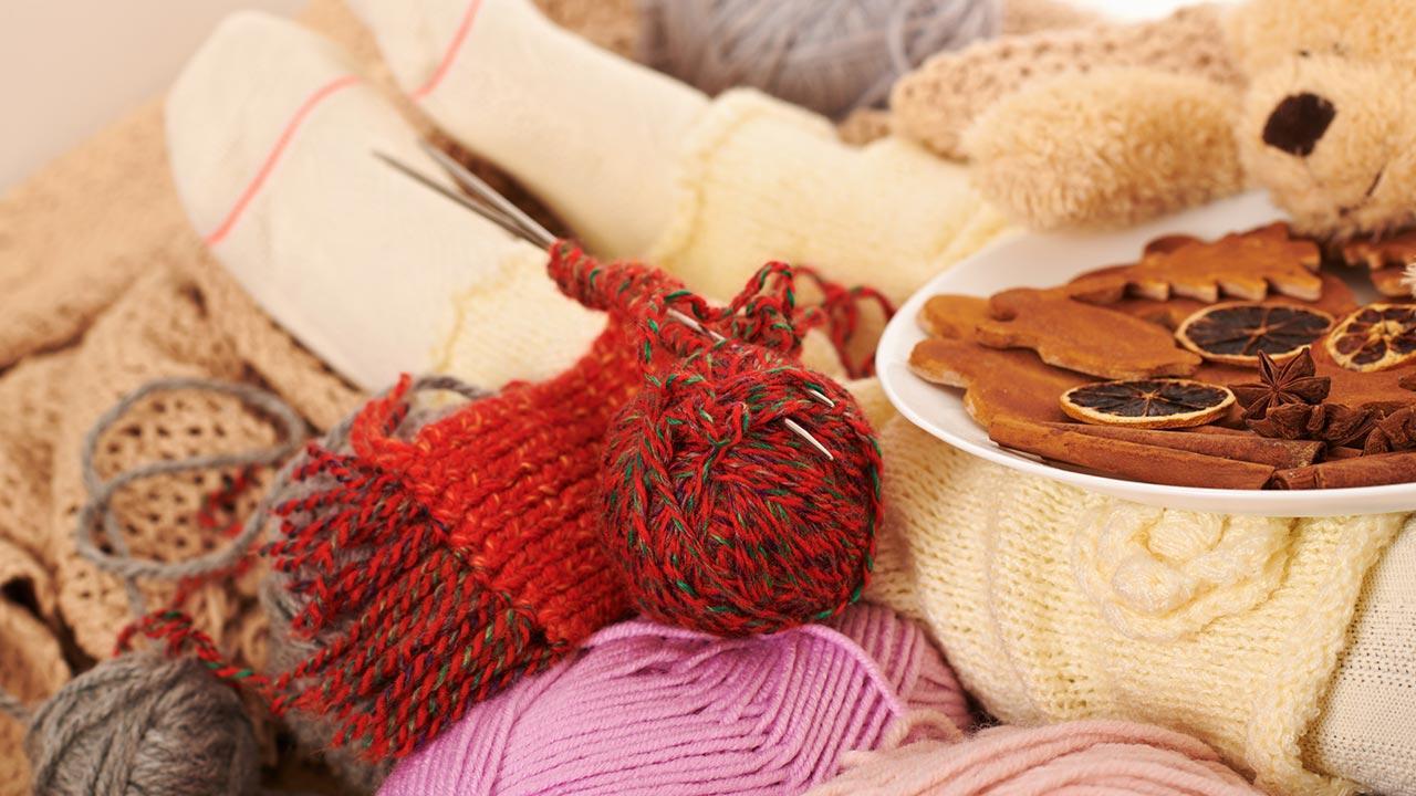Warme Socken für den kalten Winter stricken - Stricken mit Keksen
