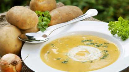 Wärmende Kartoffelsuppe für die kalte Jahreszeit