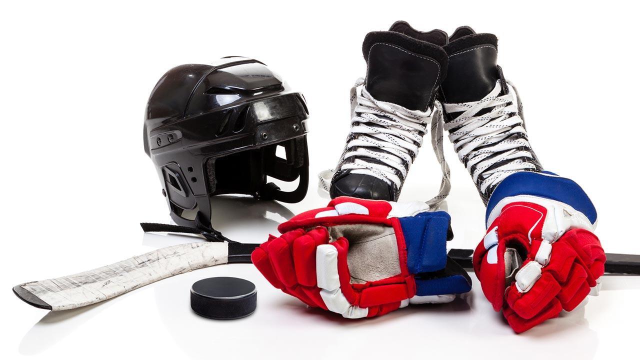 Eishockey, ein Sport mit viel Ausrüstung - Ausrüstung