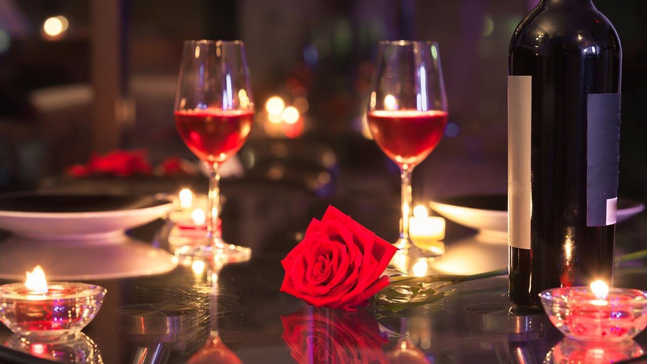 Ein romantisches Valentinsgeschenk - romantische Tisch Dekoration