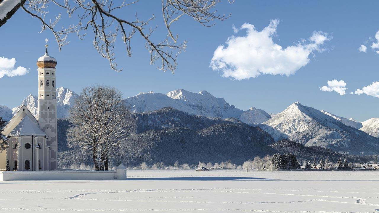 Skifahren und Langlaufen im Allgäu - Winterlandschaft