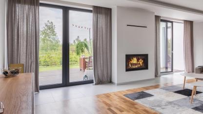 Vorhang - der Zugluft Killer - Designer Wohnzimmer