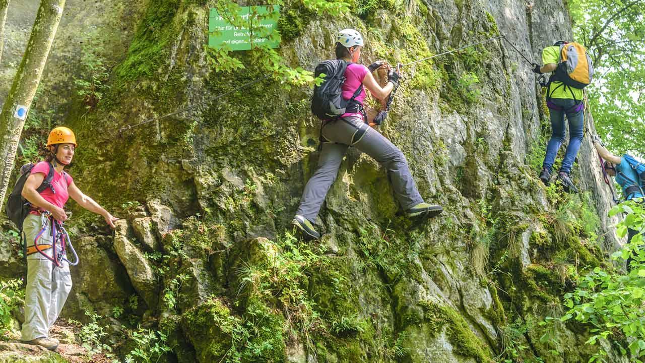 Wandern im Naturpark Altmühltal - Klettersteig