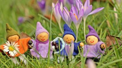 Basteln mit Kindern im Frühling
