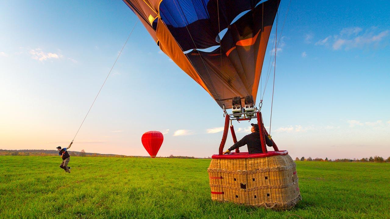 Ballon fahren - Ein Blick über Deutschland - Landung