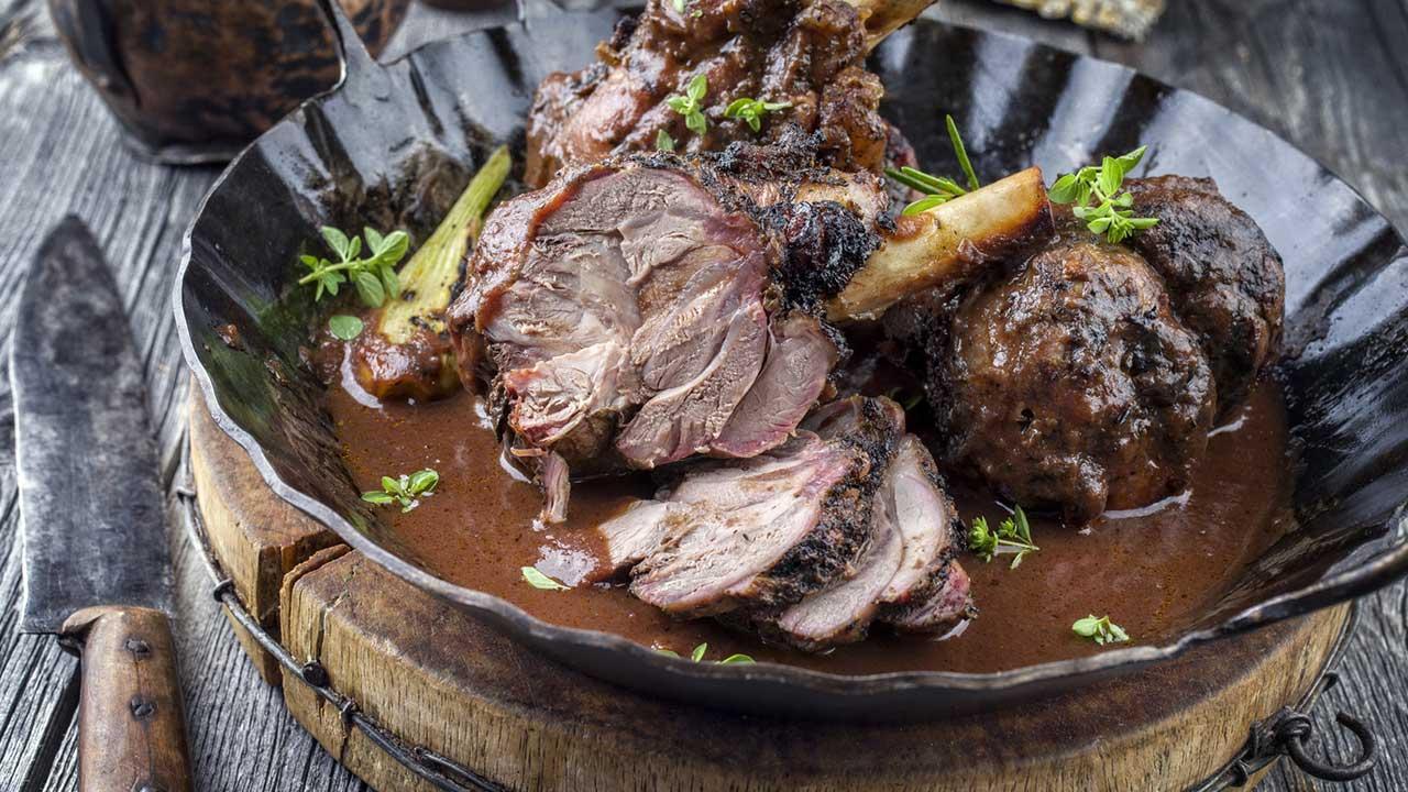 Lammbratenrezepte für Ostern - Rotweinsauce