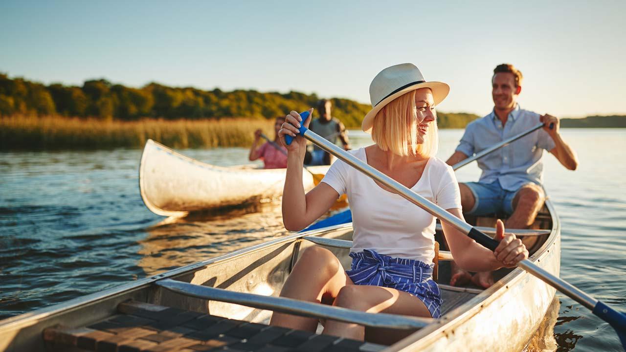 Mit dem Kanu deutsche Flüsse entdecken - am See