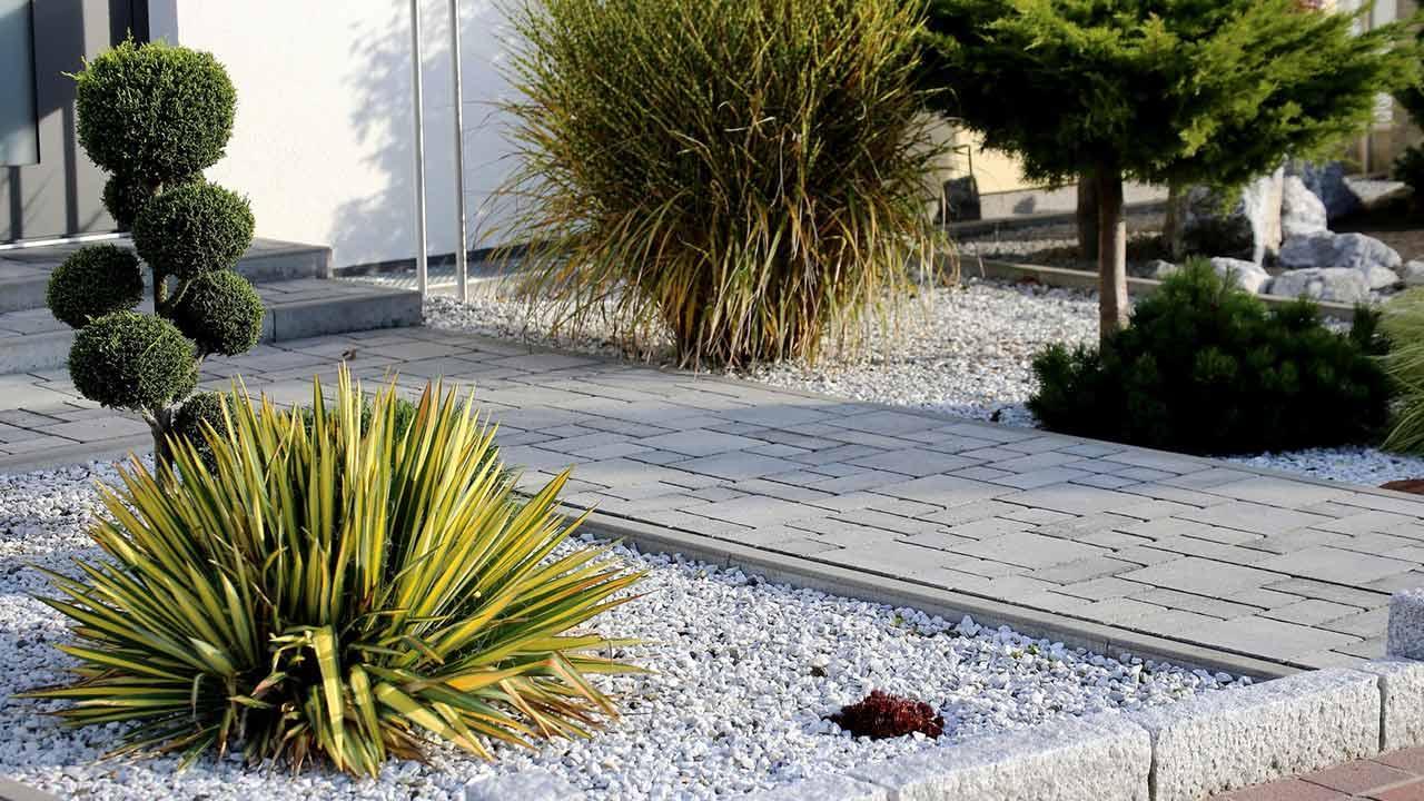 Ein Vorgarten aus Stein - moderner Vorgarten