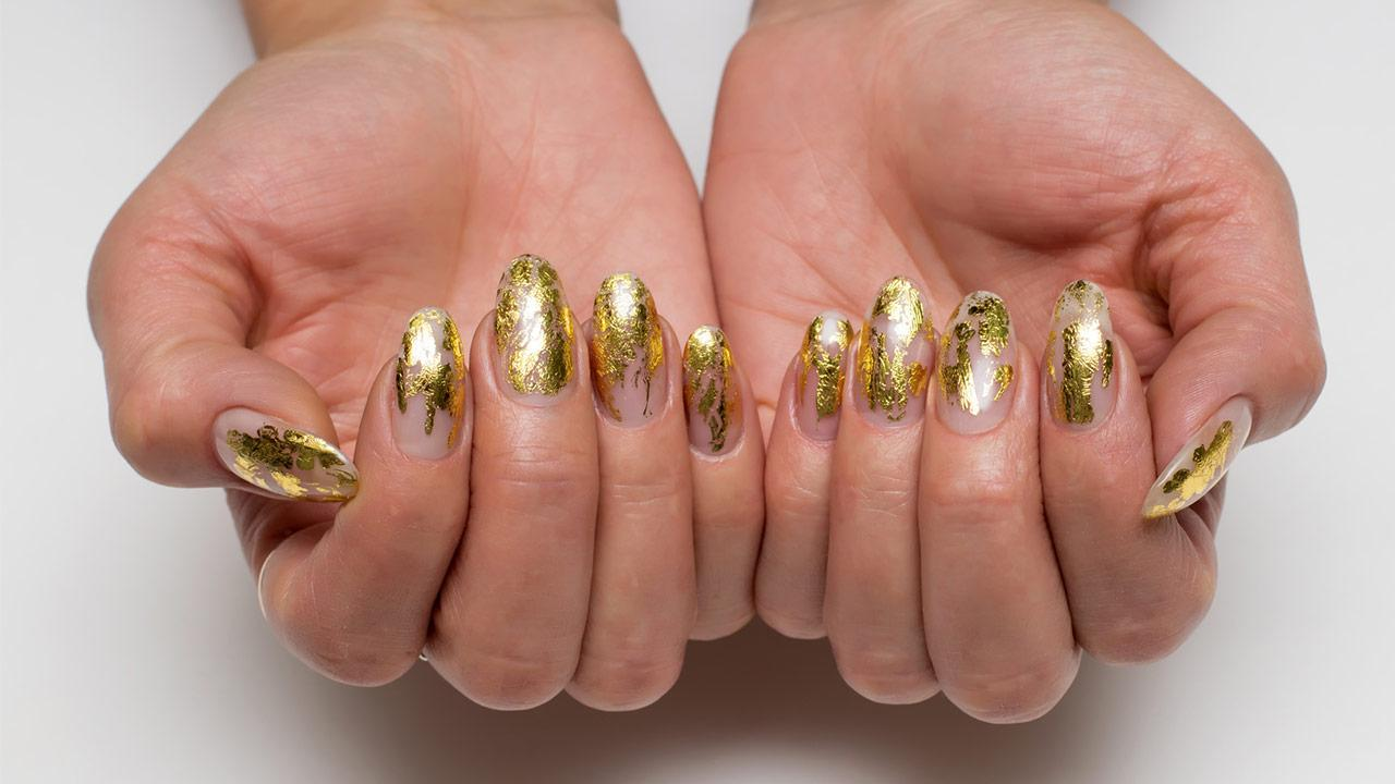 Alternativen zum Nagellack - Goldfolie
