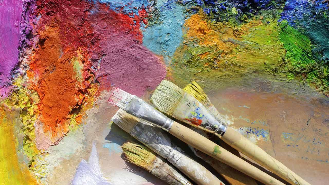 Einstieg in die Hobby-Malerei: Acrylfarben / Acrylfarben mit Pinseln