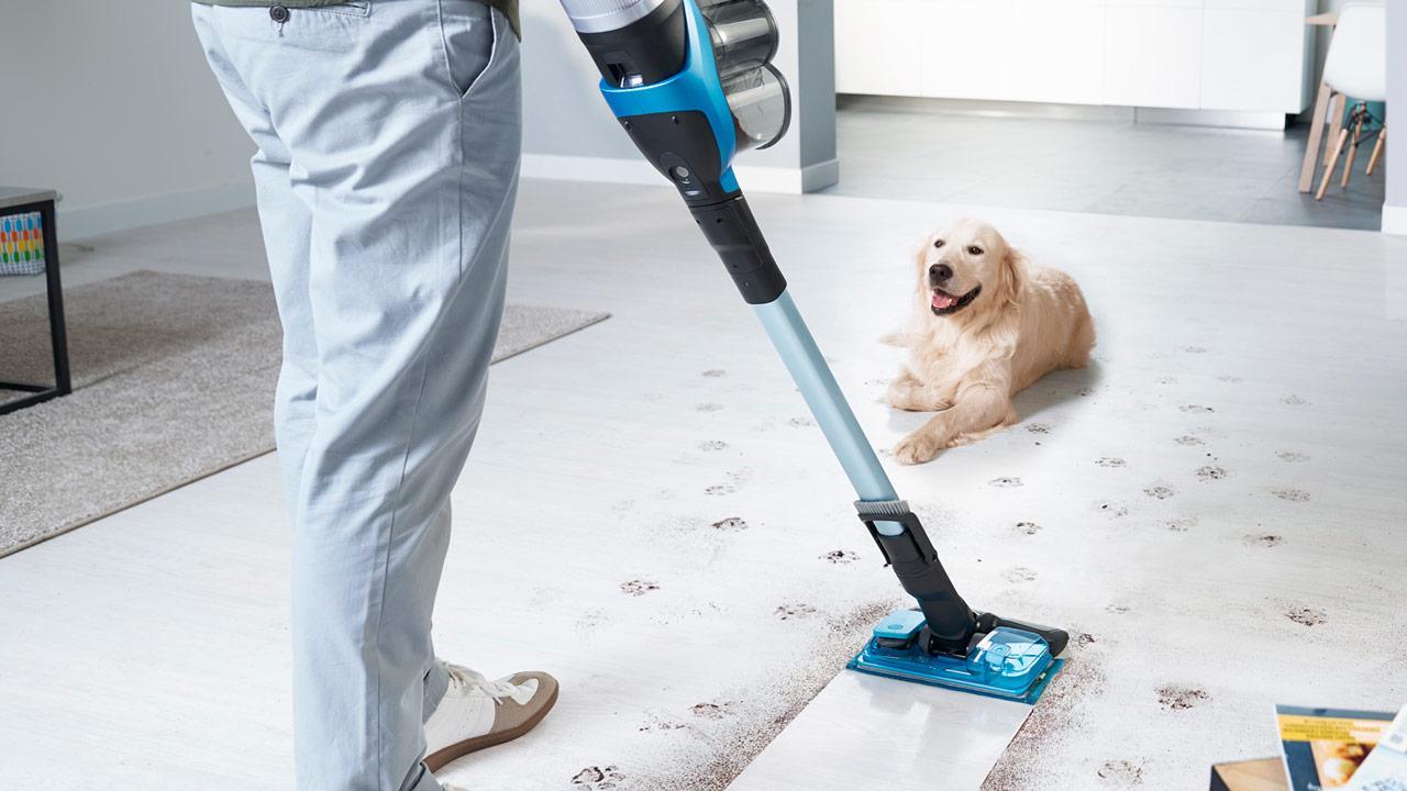 Helfer im Haushalt - der Saugwischer - Hundespuren entfernen