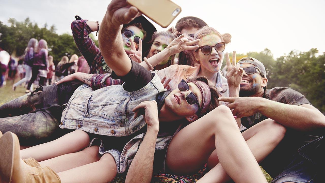 Rock im Park / Freunde machen ein Selfie