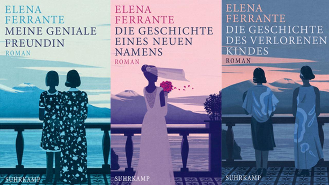 Mein Buchtipp im Juli: Elena Ferrante Band 1-4 / Buchcover der Bücher