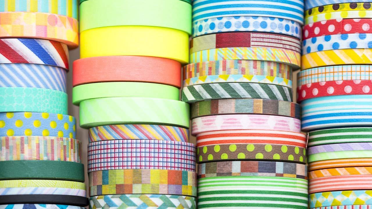 Die schönsten Deko-Ideen mit: Masking Tape / verschiedene bunte Masking Tapes