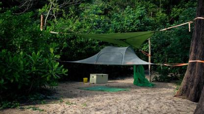 Baumzelte - eine außergewöhnliche Übernachtungsmöglichkeit / ein Baumzelt