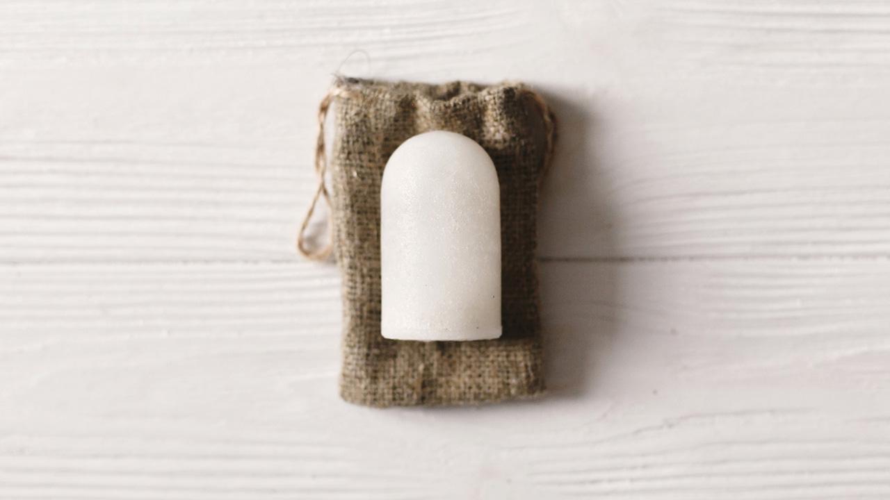 Festes Deo - Verpackung sparen / natürliches Kristall Deodorant
