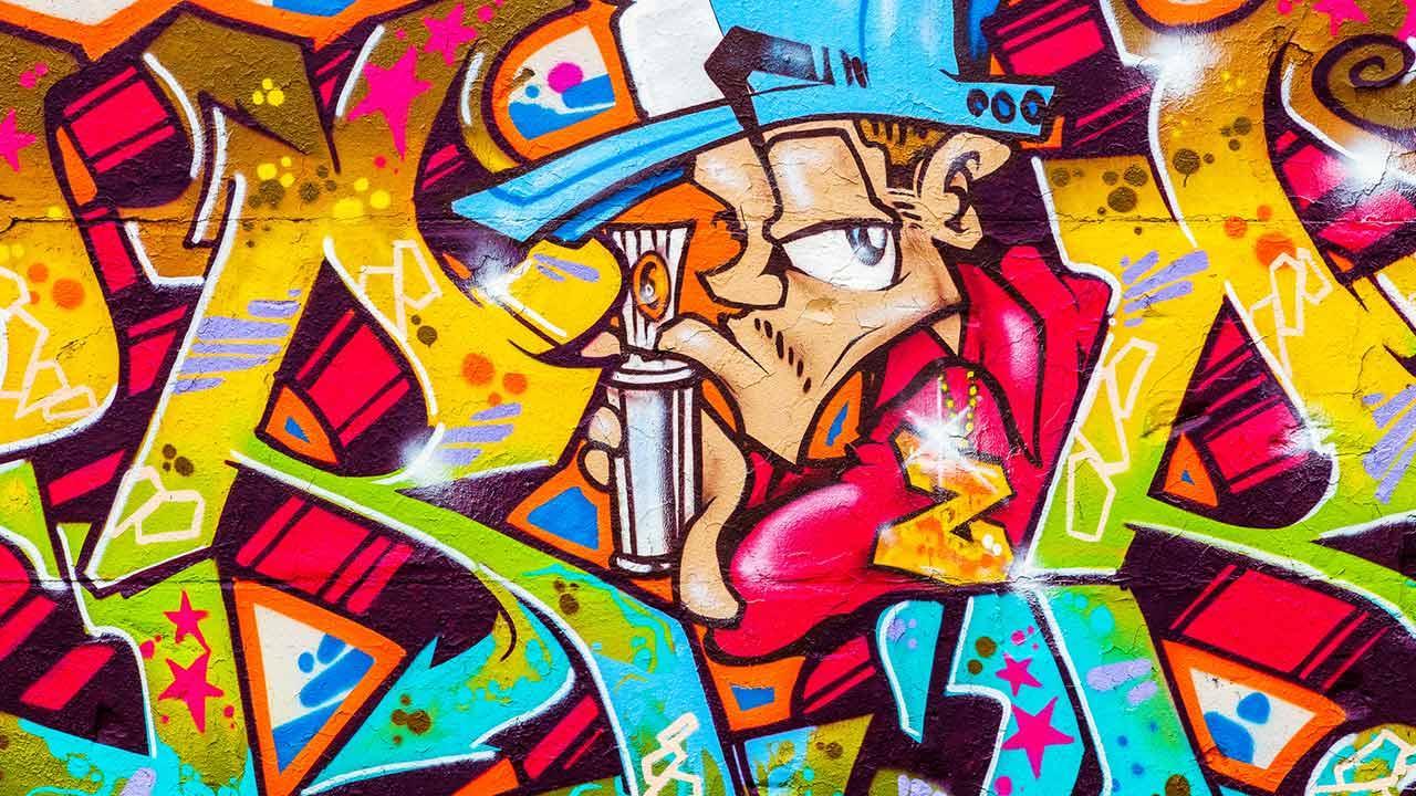 Graffiti - Einstieg in die Hobby-Malerei / ein Graffiti