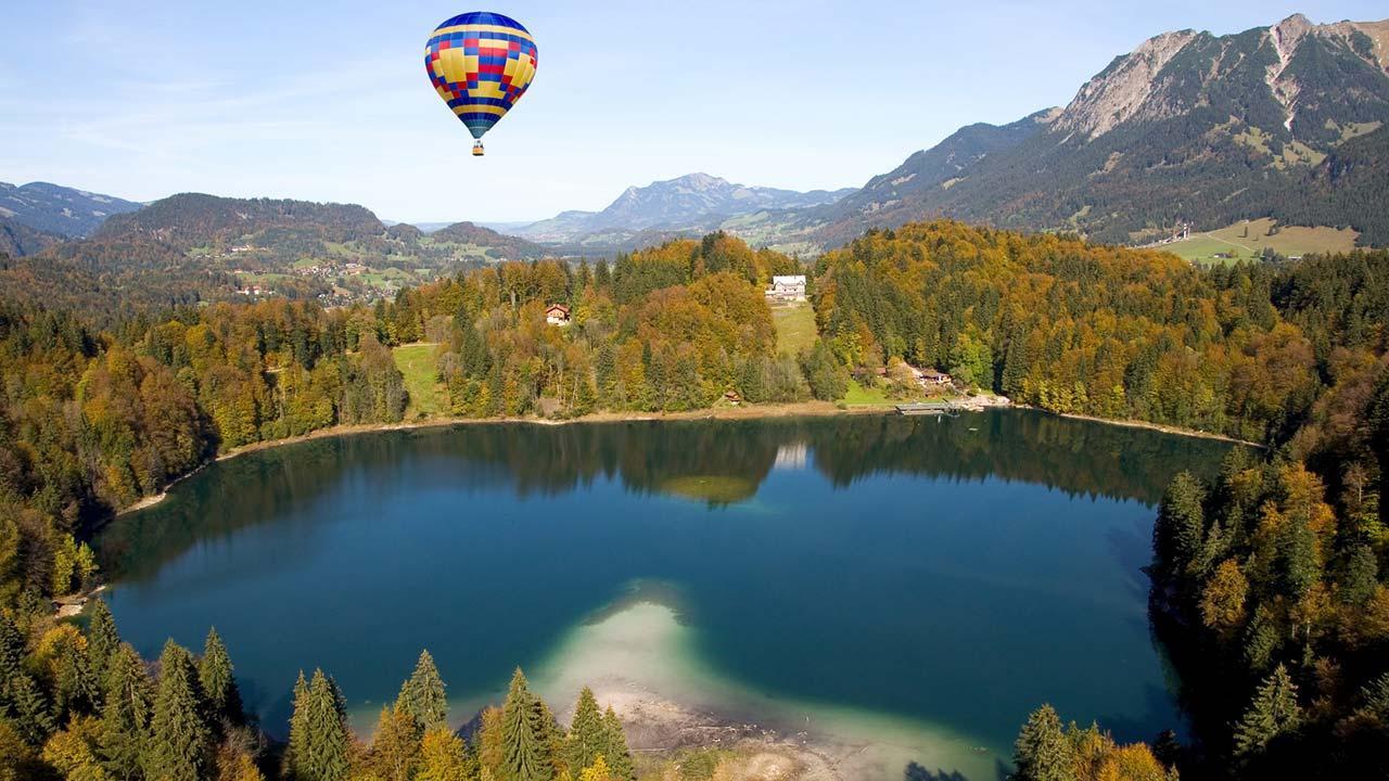 Die schönsten Ballonfahrten in Bayern - Freibergsee - Oberstdorf