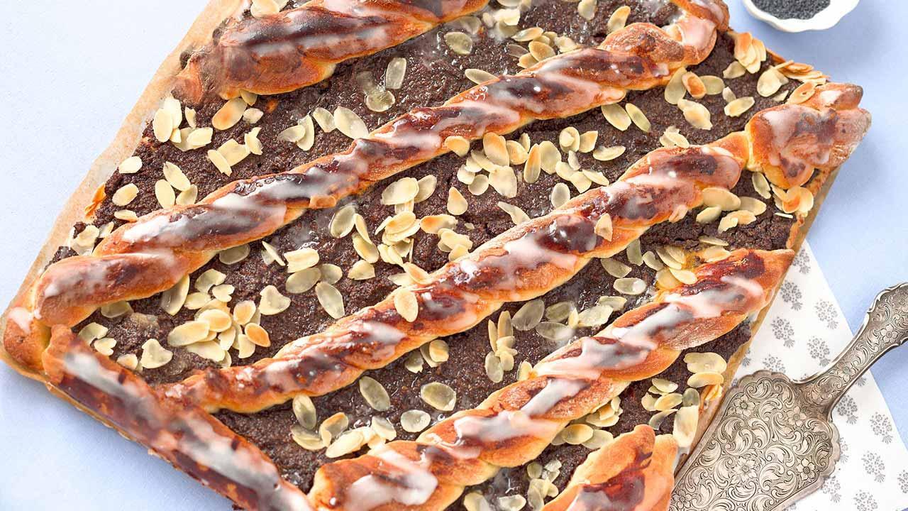 Leckere Mohnkuchenrezepte / Mohnkuchen mit Hefeteig