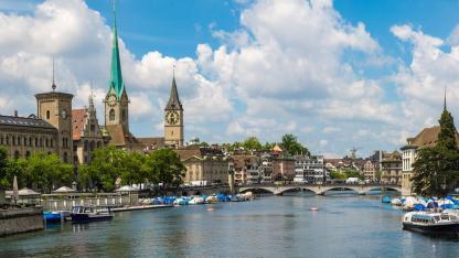 Städtetripp nach Zürich - Panoramabild von Zürich