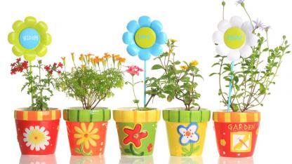 Blumentopf Basteln mit Kindern
