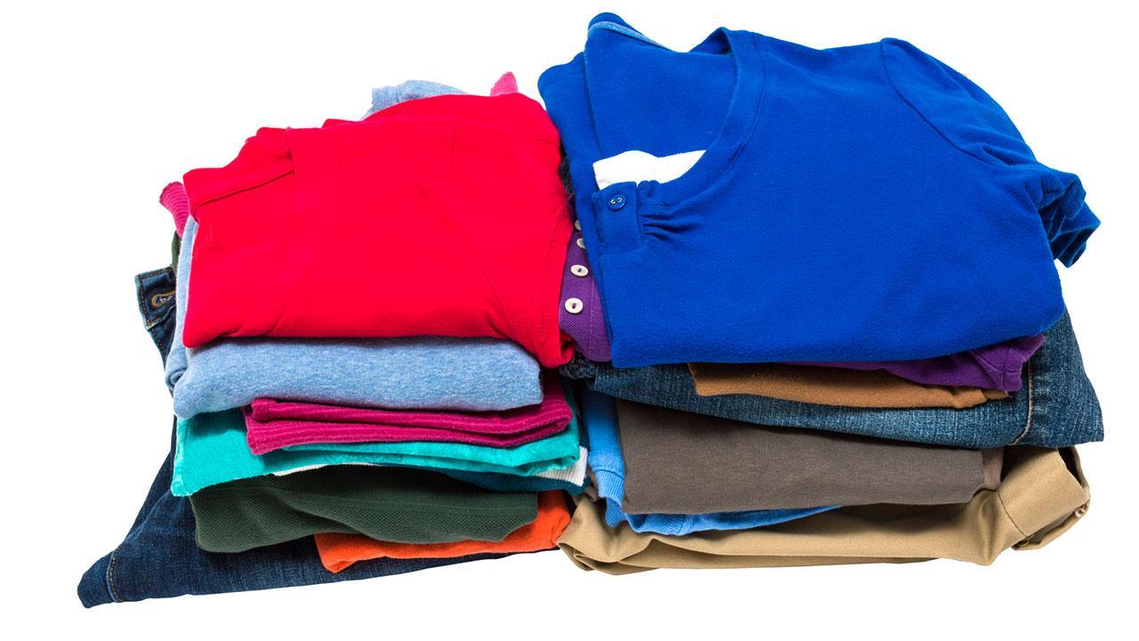 Kleiderschrank frühlingsfit machen - Stapelsystem